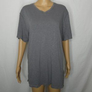 Robert Barakett Grey Cotton V Neck T Shirt XL EUC